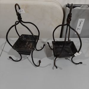 Unique set of metal items rustic style